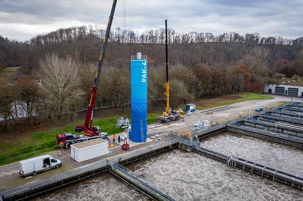 Vierte Reinigungsstufe im Hauptklärwerk S-Mühlhausen wird gebaut