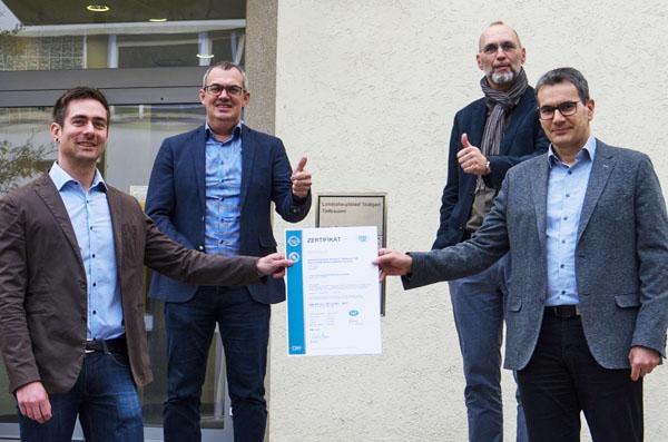 Die Stadtentwässerung Stuttgart SES erhält die Zertifizierung nach dem international anerkannten Standard ISO/IEC 27001