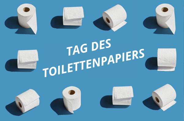 Die SES Stadtentwässerung Stuttgart weist auf den Tag des Toilettenpapiers 2021 hin.